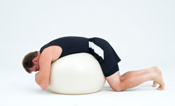 Back ball stretch